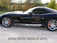 Dodge viper SRT-10 Faded Rocker Stripe Decals, Custom Decals, Racing Stripes