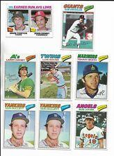1977 Topps Baseball PICK-A-CARD Gullett Freehan Dent Luzinski Murcer Alomar +++