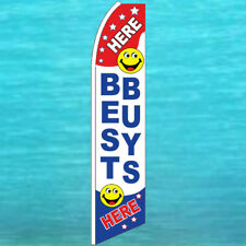Best Buys Here Flutter Flag Tall Curved Advertising Sign Feather Swooper Banner