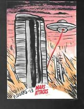 Mars Attacks Invasion 2013 COLOR SKETCH CARD Jason Flowers