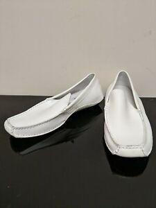 STEVE MADDEN MENS White Leather Loafer Slip-On Size 8.5 NOVO - Free Shipping