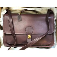 NWT Vintage Coach Burgundy Leather Metropolitan Brief Bag - Style No. 5180