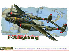 ART PRINT: P-38 Lightning graphic - Print by Shepherd