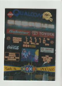 1998 Collector's Edge Super Bowl #T1 set header card, #198/500