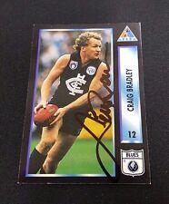 CARLTON BLUES - CRAIG BRADLEY SIGNED AFL 1994 AFLPA COMMON CARD