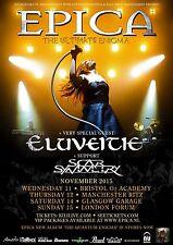 "EPICA /ELUVEITIE/SCAR SYMMETRY ""THE ULTIMATE ENIGMA"" 2015 UK CONCERT TOUR POSTER"