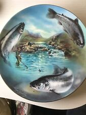 COALPORT GONE FISHING GAME FISHING COLLECTORS PLATE SEE OTHER PLATE LISTED.