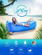 Inflatable Beach Chair Lazy Air Bed Camping Lounger Couch Chair Sleeping Bag bl