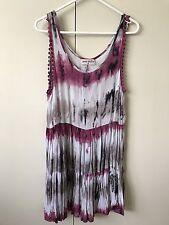 Cosi Bella Dress SiZe 8 Plum Berry Tribal Grey