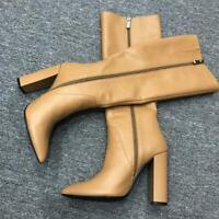 New Womens Boots Knee High Boots Block High Heels Winter Full Zipper Party Shoes
