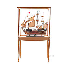"X Large Wood & Plexiglas Display Case 40"" Cabinet Tall Ship,Yacht,Boat Models"
