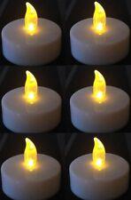 LED Teelicht Groß  flackernd XL Teelichter elektrisch Kerze Kerzen 8 Stück