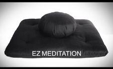 Deluxe 2pc Set Buckwheat Hulls Zafu Zabuton Yoga Meditation Cushion Free Ship