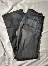 7 For All Mankind Gray-Wash Bootcut Blue Jeans Women's 28 #15