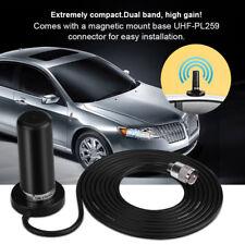 Antenna Auto Bibanda 136-174/400-470MHz BASE MAGNETICA INCLUSA PL259 UHF VHF
