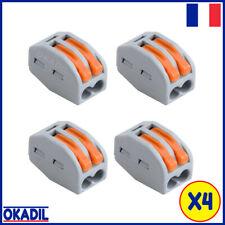 🔴 4 Dominos Connecteurs Electriques Rapides pour 2 Câbles