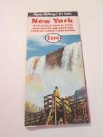 Vintage 1960 Esso New York Oil Gas Service Station Travel Road Map