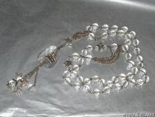 Acrílico Transparente maravilloso grano de plata tono cadena Collar de mariposa estrella acento
