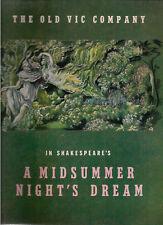The Old Vic Company in A MIDSUMMER NIGHT'S DREAM Theatre Program (1955)