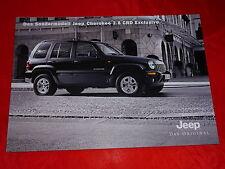 """JEEP Cherokee 2.8 CRD """"Exclusive"""" Sondermodell Prospekt von 2004"""