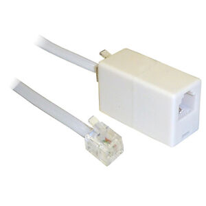 20M ADSL RJ11 Broadband Modem Extension Cable Lead with Coupler Male Female