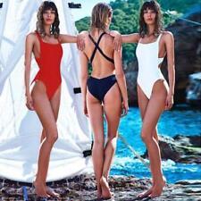 Sexy Womens One Piece Swimwear Monokini Padded Bikini Fashion Swimsuit Beach MT