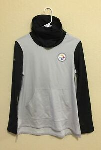 Under Armour Pittsburgh Steelers NFL Sweatshirt Womens Cowl Neck Size Small