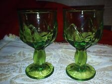 2 Vintage Franciscan Cabaret Green Water Goblets, excellent, no chips or cracks