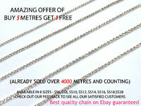 1 Meter Diamante/Rhinestone Crystal & AB Chain Silver A++ Quality Wedding Sewing