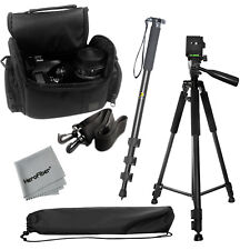 "Pro 60"" tripod + 72"" Monopod + Deluxe SLR Camera Case for Sony Camcorders"