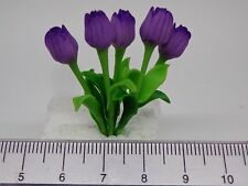 1:12 Scale Purple Tulips Flowers  Doll House Miniatures Flowers, Garden