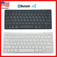 Wireless Bluetooth 3.0 Slim Keyboard for Windows Android iOS Tablet PC Laptop