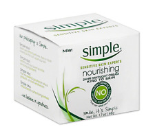 Simple Sensitive Skin Nourishing 24HR Day Night Moisturizing Cream