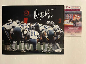Danny White Signed 8 x 10 Photo JSA COA Dallas Cowboys