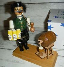 Innkeeper Beer Wood Keg Stand German Smoker ECHT ERZGEBIRGE RAUCHERMANN w/ Box