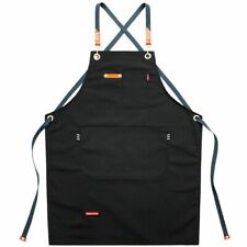 Cooking Apron Chef Pockets Heavy Duty Grilling Bbq Workshop Sleeveless Uniform