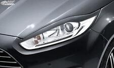 FORD Fiesta MK7 JA8 JR8 (2012+) Facelift Headlight covers Eye Brows ABS