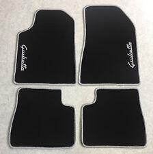 Autoteppich Fußmatten für Alfa Romeo Giulietta Schrift silber Seite 4tlg Neuware