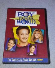 Boy Meets World - The Complete First Season 1 (DVD, 3-Disc Set) *RARE opp