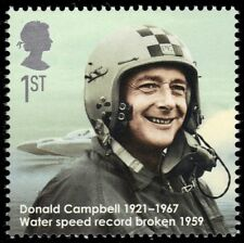 """GREAT BRITAIN 2698 - Donald Campbell """"Water and Land Speed Pioneer"""" (pa57438)"""