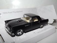 "1955 Ford Thunderbird Black Die Cast Metal Model Car 5"" Kinsmart Collectable New"