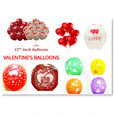 Heart Balloons❤I love you Balloon❤Red White Latex Balloon❤UK Seller❤Valentines❤