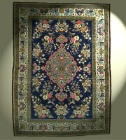 Feiner Ghom Teppich 148x110 cm alt Iran Orientteppich old rug tapis tappeto