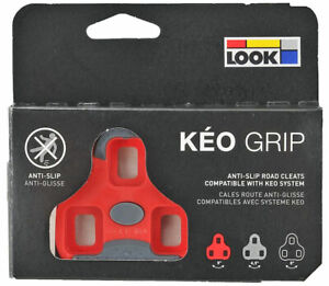 2020 Genuine LOOK Brand KEO GRIP Pedal Cleat Set 9° Fit Blade, Max, Classic: RED