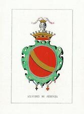 Araldica stemma araldico della famiglia Ansidei di Perugia