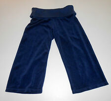 JUICY COUTURE NAVY BLUE TERRY CLOTH CAPRI CROP PANTS, SIZE PETITE, SO COMFY!