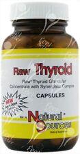 Natural Sources Raw Thyroid 390mg x60caps - ENERGY / HYPOTHYROIDISM !!!