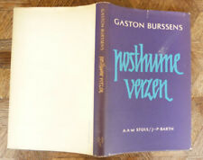 GASTON BURSSENS POSTHUME VERZEN A A M STOLS J P BARTH 1961