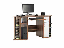 Alphason Office Becks French Walnut Computer Corner Desk Workstation AW12106