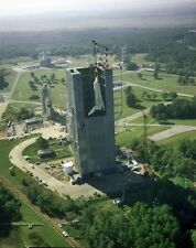 New 8x10 NASA Photo: First Constructed Space Shuttle Enterprise in Test Stand